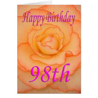 Happy 98th Birthday Flower Card