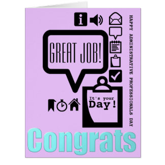 Happy Administrative Professionals Days L greeting Big Greeting Card