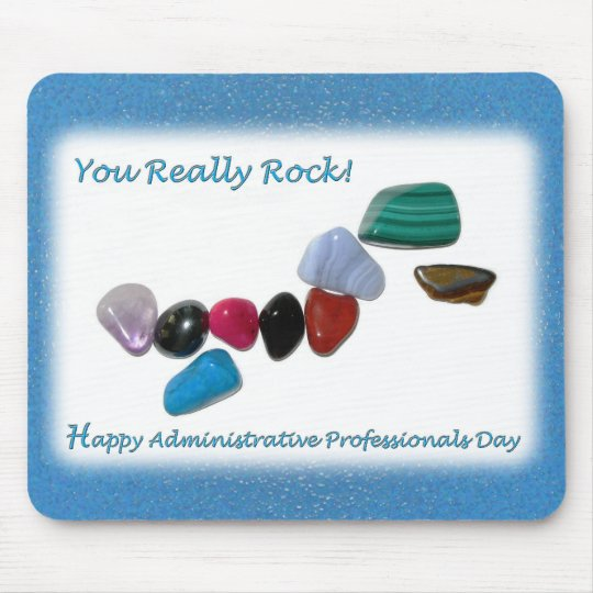 Happy Administrative Professionals You Really Rock Mouse Pad