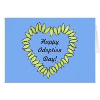 Happy Adoption Day Leaf Heart Card