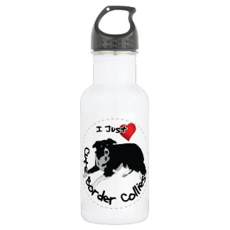 Happy Adorable & Funny Border Collie Dog 532 Ml Water Bottle