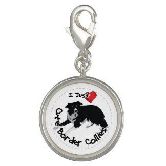Happy Adorable & Funny Border Collie Dog Charms