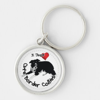 Happy Adorable & Funny Border Collie Dog Keychain