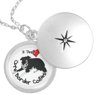 Happy Adorable & Funny Border Collie Dog Silver Plated Necklace