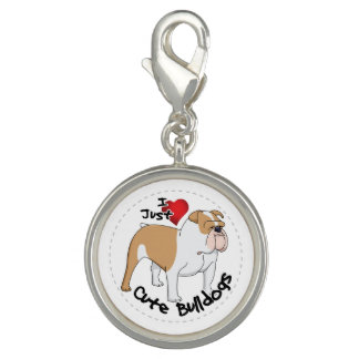 Happy Adorable & Funny Bulldog Dog Charm