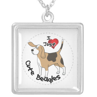 Happy Adorable Funny & Cute Beagle Dog Silver Plated Necklace