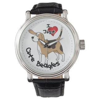 Happy Adorable Funny & Cute Beagle Dog Wristwatch