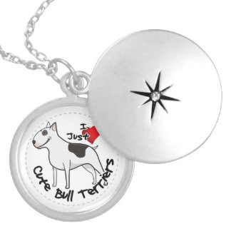 Happy Adorable Funny & Cute Bull Terrier Dog Locket Necklace