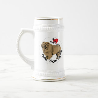Happy Adorable Funny & Cute Chow Chow Dog Beer Stein