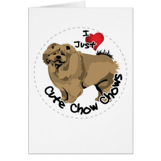 Happy Adorable Funny & Cute Chow Chow Dog Card