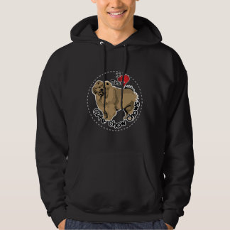 Happy Adorable Funny & Cute Chow Chow Dog Hoodie