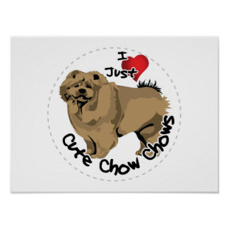 Happy Adorable Funny & Cute Chow Chow Dog Poster