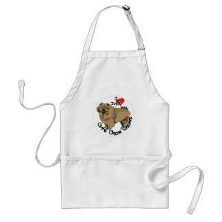 Happy Adorable Funny & Cute Chow Chow Dog Standard Apron