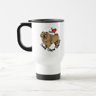 Happy Adorable Funny & Cute Chow Chow Dog Travel Mug