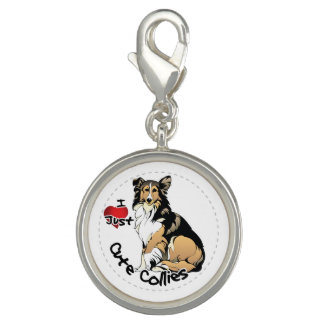Happy Adorable Funny & Cute Collie Dog Photo Charm