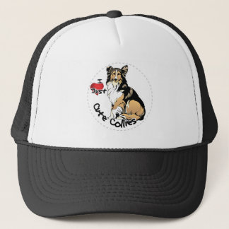 Happy Adorable Funny & Cute Collie Dog Trucker Hat