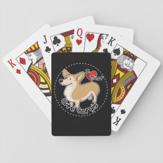 Happy Adorable Funny & Cute Corgi Dog Playing Cards