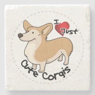 Happy Adorable Funny & Cute Corgi Dog Stone Coaster