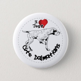 Happy Adorable Funny & Cute Dalmatian Dog 2 Inch Round Button