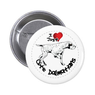 Happy Adorable Funny & Cute Dalmatian Dog 2 Inch Round Button
