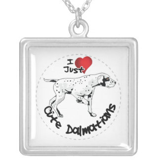 Happy Adorable Funny & Cute Dalmatian Dog Silver Plated Necklace