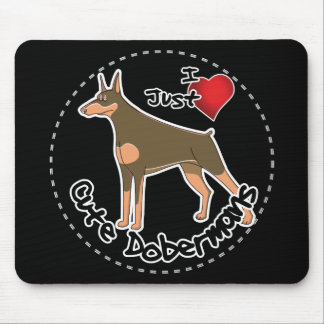 Happy Adorable Funny & Cute Doberman Dog Mouse Pad