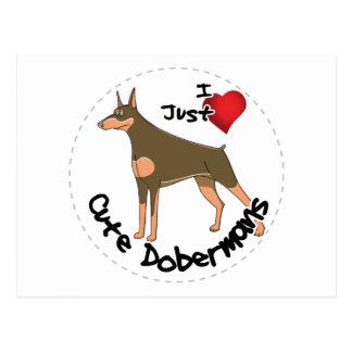 Happy Adorable Funny & Cute Doberman Dog Postcard