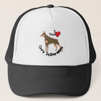 Happy Adorable Funny & Cute Doberman Dog Trucker Hat