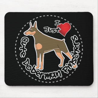 Happy Adorable Funny & Cute Doberman Pinscher Dog Mouse Pad