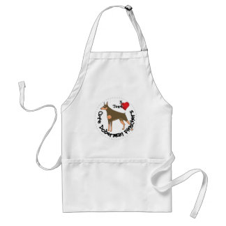 Happy Adorable Funny & Cute Doberman Pinscher Dog Standard Apron
