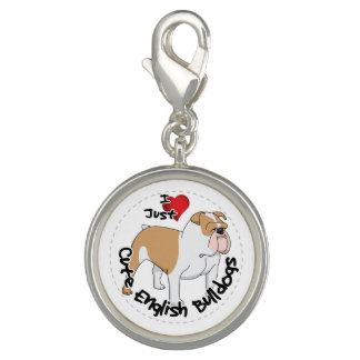Happy Adorable Funny & Cute English Bulldog Dog Photo Charm
