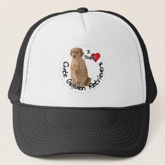 Happy Adorable Funny & Cute Golden Retriever Dog Trucker Hat