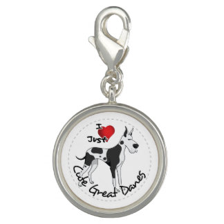 Happy Adorable Funny & Cute Great Dane Dog Charms
