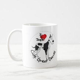 Happy Adorable Funny & Cute Great Dane Dog Coffee Mug