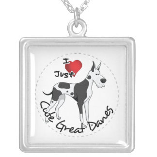Happy Adorable Funny & Cute Great Dane Dog Silver Plated Necklace