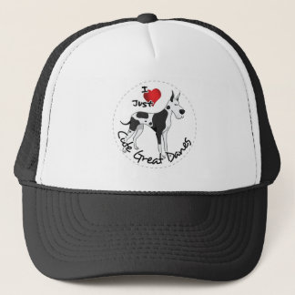 Happy Adorable Funny & Cute Great Dane Dog Trucker Hat