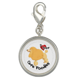 Happy Adorable Funny & Cute Poodle Dog Charm