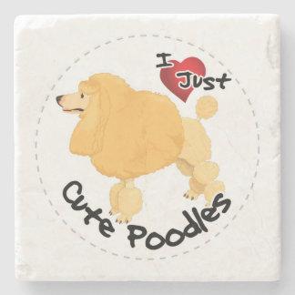 Happy Adorable Funny & Cute Poodle Dog Stone Coaster