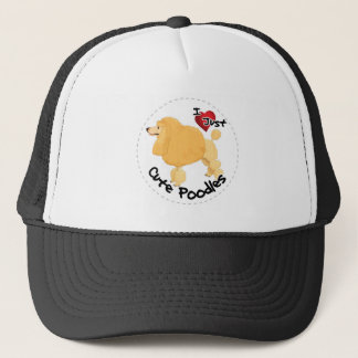 Happy Adorable Funny & Cute Poodle Dog Trucker Hat