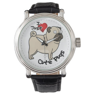 Happy Adorable Funny & Cute Pug Dog Watches