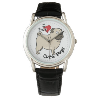 Happy Adorable Funny & Cute Pug Dog Wrist Watches