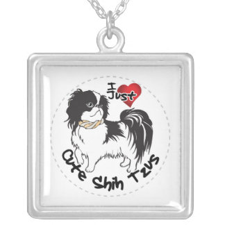 Happy Adorable Funny & Cute Shih Tzu Dog Silver Plated Necklace