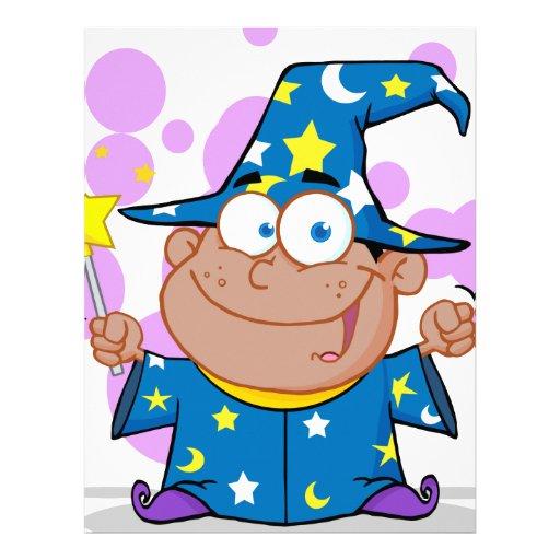 Happy African American Wizard Boy Letterhead