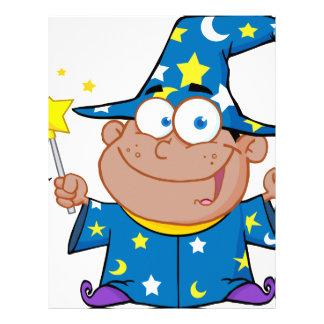 Happy African American Wizard Letterhead