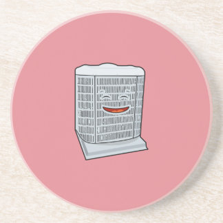 Happy Air Conditioner AC unit smiling Coaster