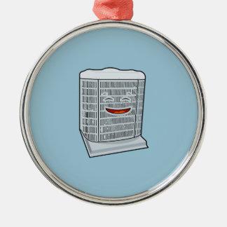 Happy Air Conditioner AC unit smiling Metal Ornament