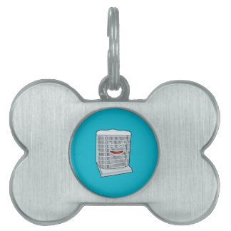 Happy Air Conditioner AC unit smiling Pet ID Tag