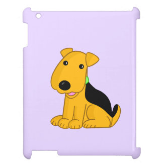 Happy Airedale Terrier Puppy Dog iPad Case