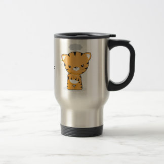 Happy and Angry Kitten Travel Mug