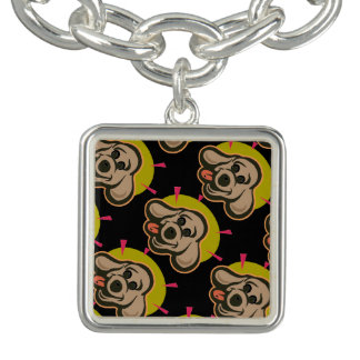 Happy and bright dog face cartoon bracelets